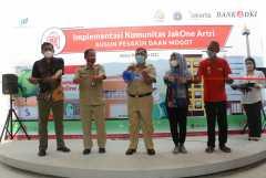Dukung Program Jakarta Sadar Sampah,Bank DKI rangkul penghuni Rusun Pesakih